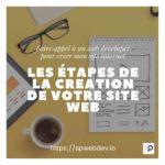 Les étapes de conception et création de votre site web