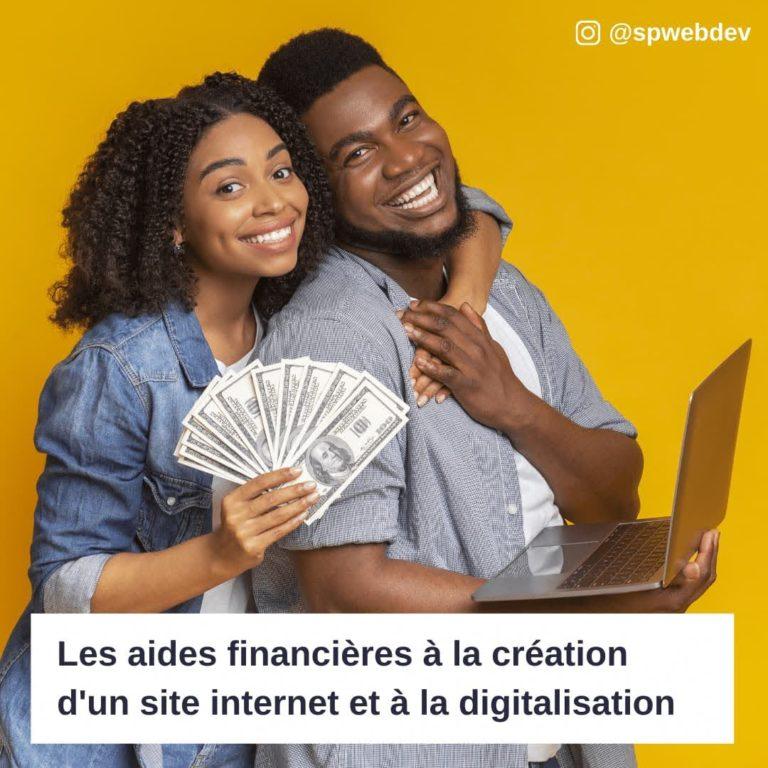 Les aides financières à la création d'un site internet et à la digitalisation